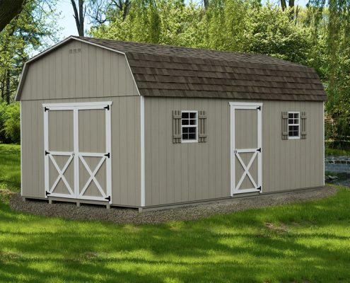 Dutch Style Backyard Shed