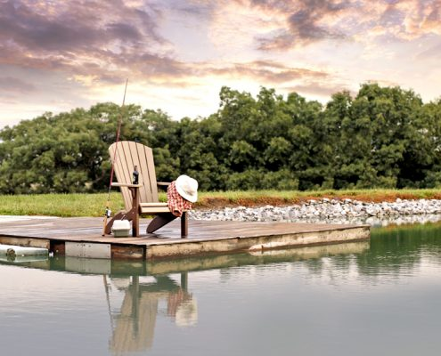 Fanback Chair - Fishing Dock - Poly Furniture by Alger Sheds