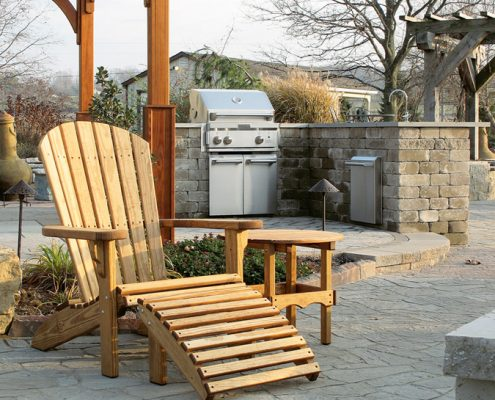 Wood Outdoor Furniture - Fanback chair