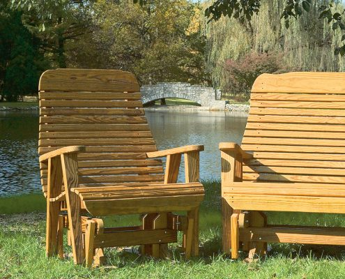Big Easy Glider Set - Wood Furniture by Alger Sheds