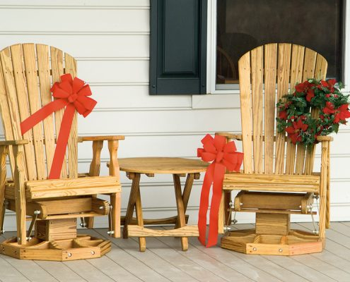 Wood fanback chairs - Alger Sheds