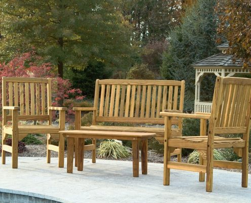English garden set - Wood Furniture - Alger Sheds