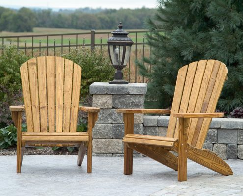 Wood fanback chair set - Alger Sheds
