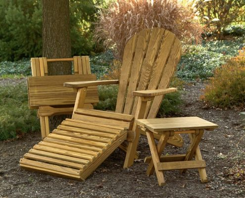 Folding wood furniture set - Alger Sheds