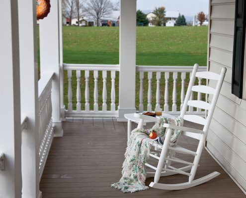 White Wooden Rocking Chair - Alger Sheds