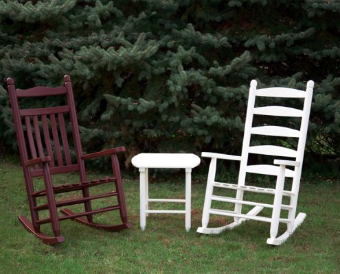 Set of wood rocking chairs - Ash - Alger Sheds