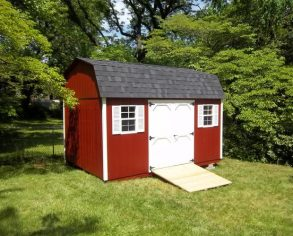Red Dutch Barn with Ramp