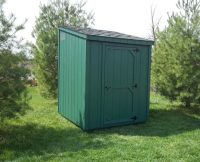 Lean-To Shed - Green