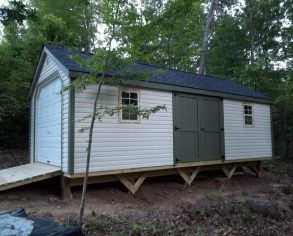Custom Gable Shed on Risers with Ramp
