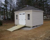 Hip Roof Shed with Ramp