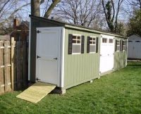 Lean-To Shed with Ramp