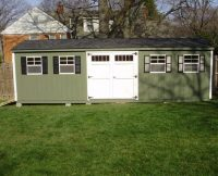 Lean-To Shed - Double Doors