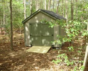 Custom Gable Shed with Ramp