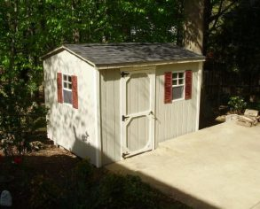 Gable Shed with Custom Door and Windows