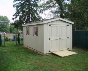 Gable Shed with Ramp