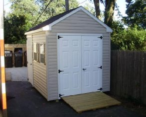 Narrow Gable Shed with Ramp