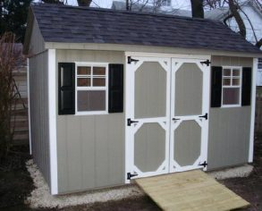 Gable Shed with Custom Doors and Shutters