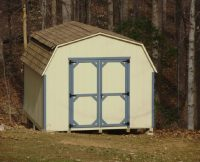 Custom Mini-Barn - Duratemp with Blue Trim