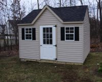 Vinyl Cape Cod Shed with Dormer
