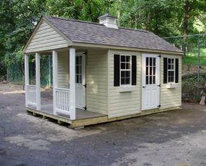Custom Gable Shed with Porch