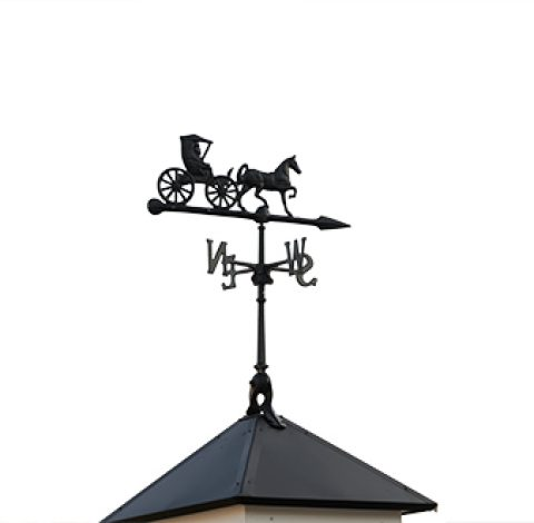 Weathervane - Custom Shed Option - Horse and Carriage