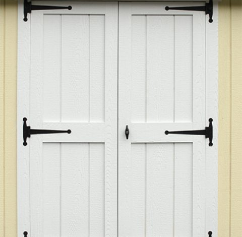 Double hung doors - Custom shed option - White