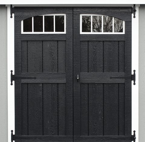 Double hung doors - Custom shed option - black