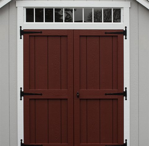 Double hung doors - Custom shed option - Red