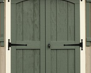 Double hung doors - Custom shed option - Green