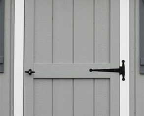 Prehung Door - Custom Shed Options - Gray