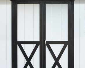Double hung doors - Custom shed option