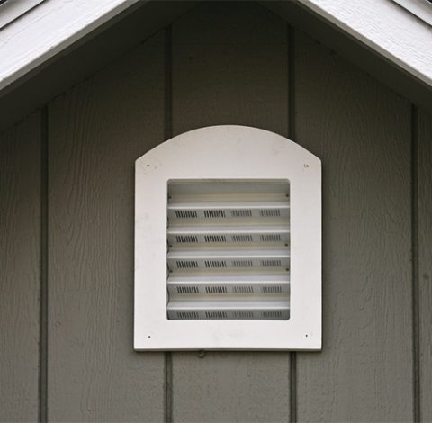 Arched Venting - Custom Shed Option