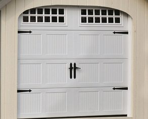 Garage door with windows - Alger Sheds